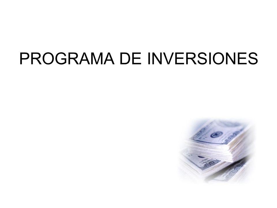 PROGRAMA DE INVERSIONES
