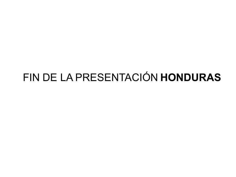 FIN DE LA PRESENTACIÓN HONDURAS
