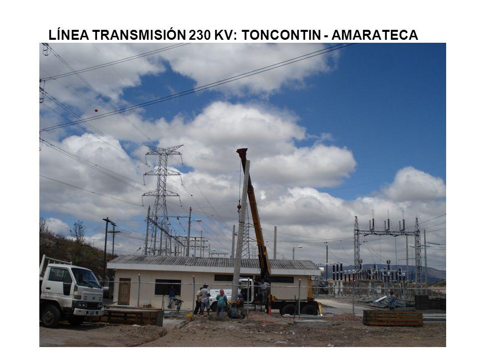 LÍNEA TRANSMISIÓN 230 KV: TONCONTIN - AMARATECA