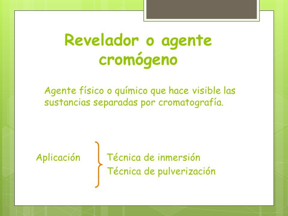Revelador o agente cromógeno