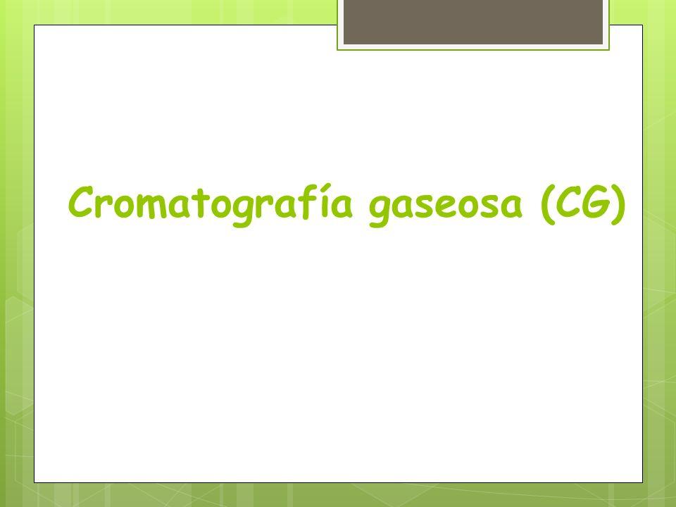Cromatografía gaseosa (CG)