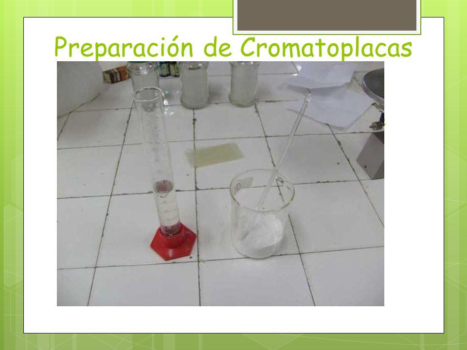 Preparación de Cromatoplacas (primera parte)
