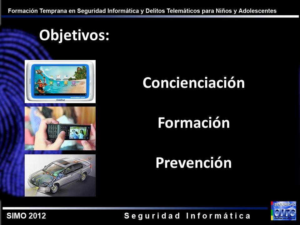 Objetivos: Concienciación Formación Prevención