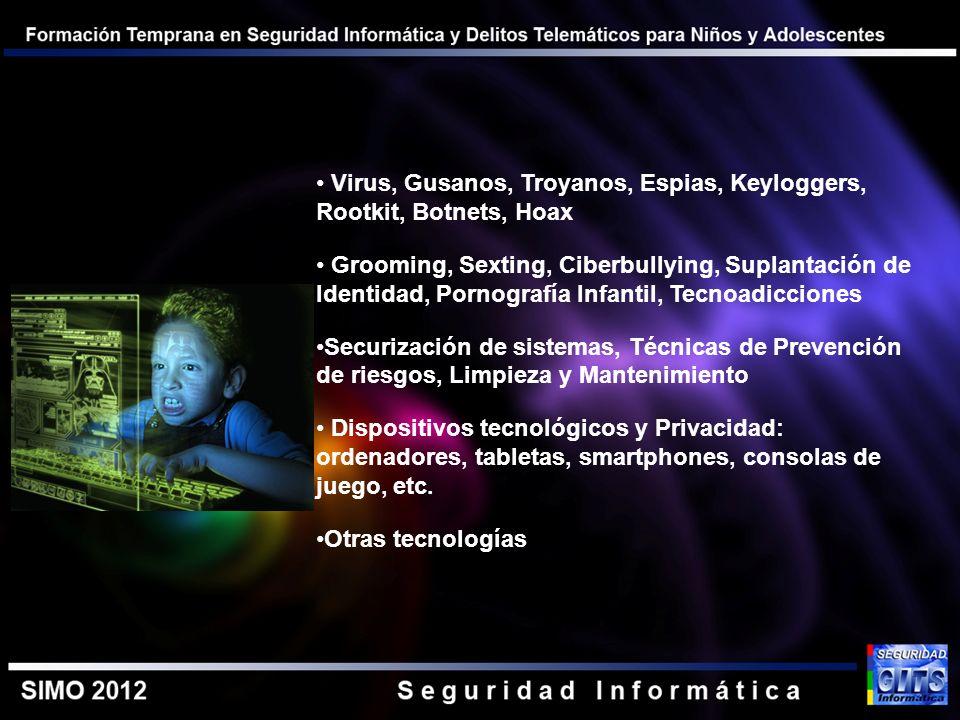 Virus, Gusanos, Troyanos, Espias, Keyloggers, Rootkit, Botnets, Hoax