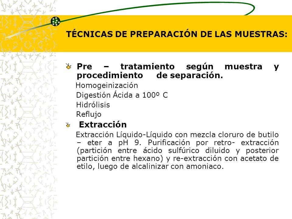TÉCNICAS DE PREPARACIÓN DE LAS MUESTRAS: