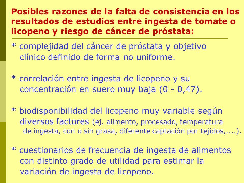 * complejidad del cáncer de próstata y objetivo