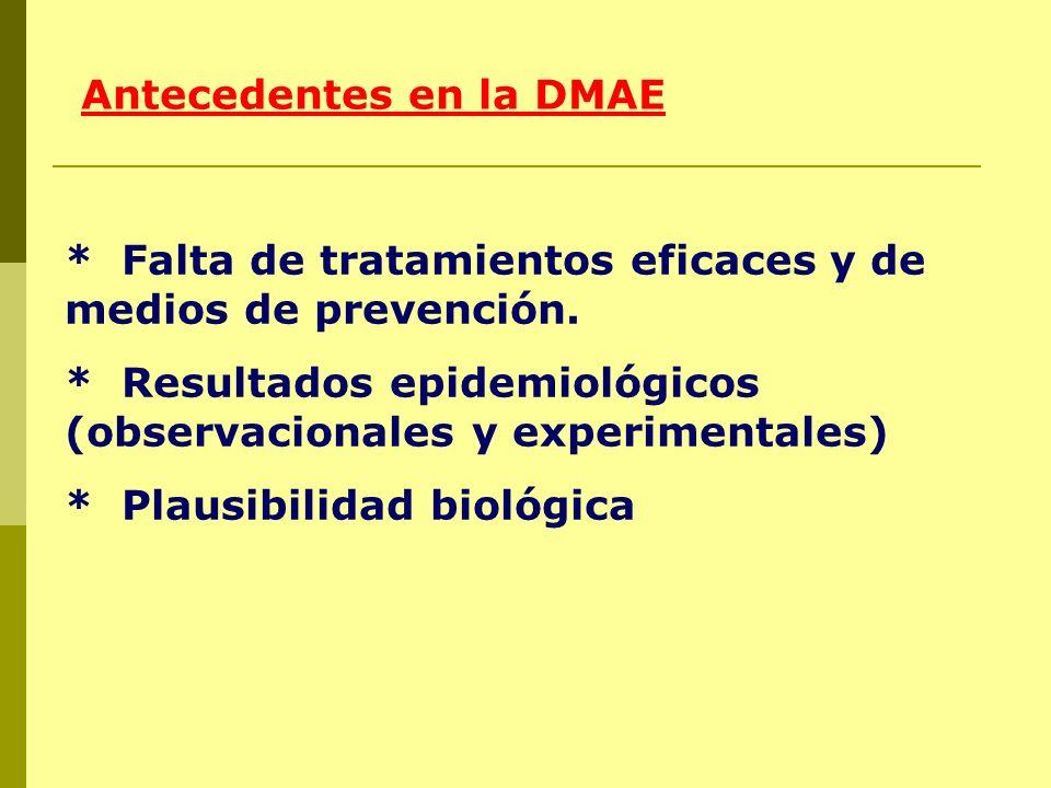 Antecedentes en la DMAE