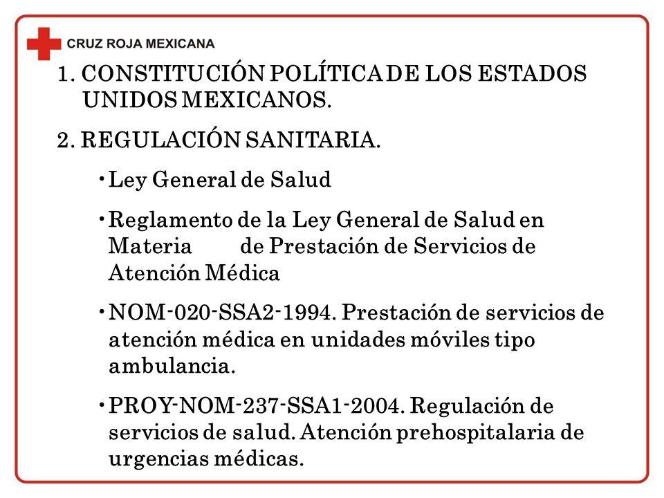 1. CONSTITUCIÓN POLÍTICA DE LOS ESTADOS UNIDOS MEXICANOS.