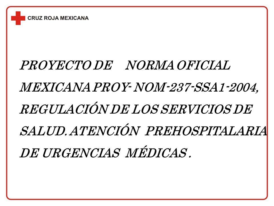 PROYECTO DE NORMA OFICIAL