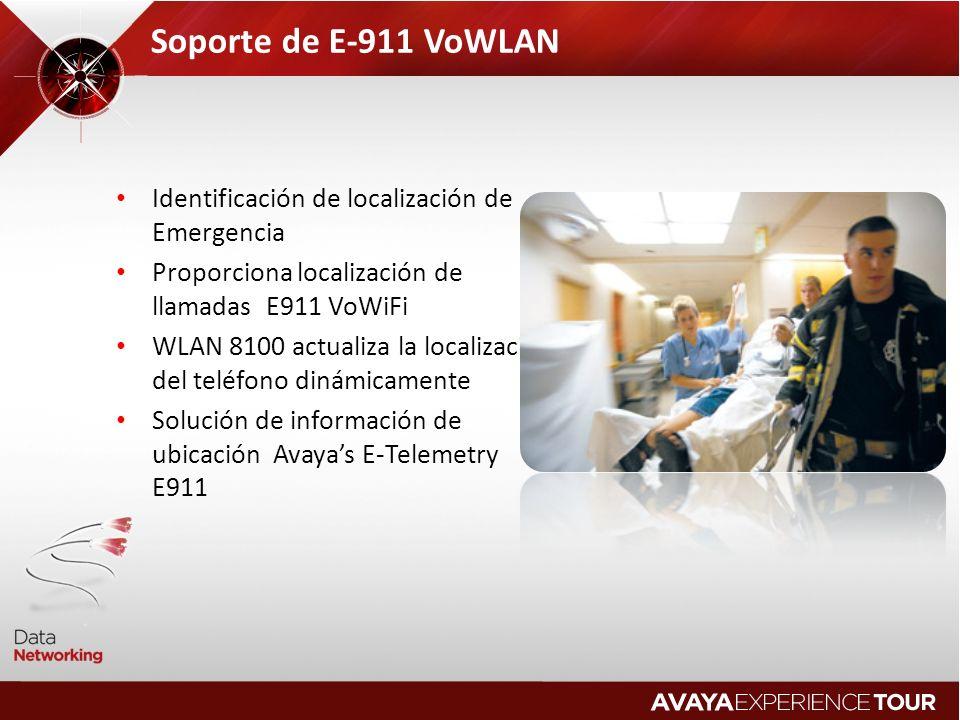 Soporte de E-911 VoWLAN Identificación de localización de Emergencia