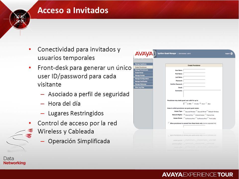 Acceso a Invitados Conectividad para invitados y usuarios temporales
