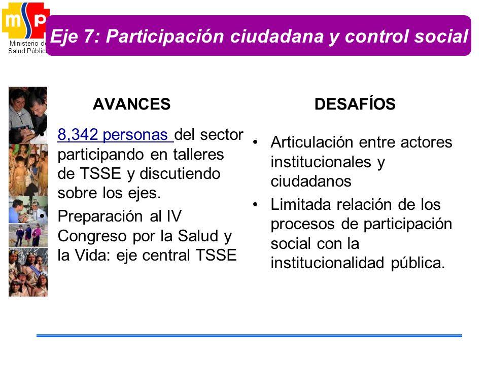Eje 7: Participación ciudadana y control social