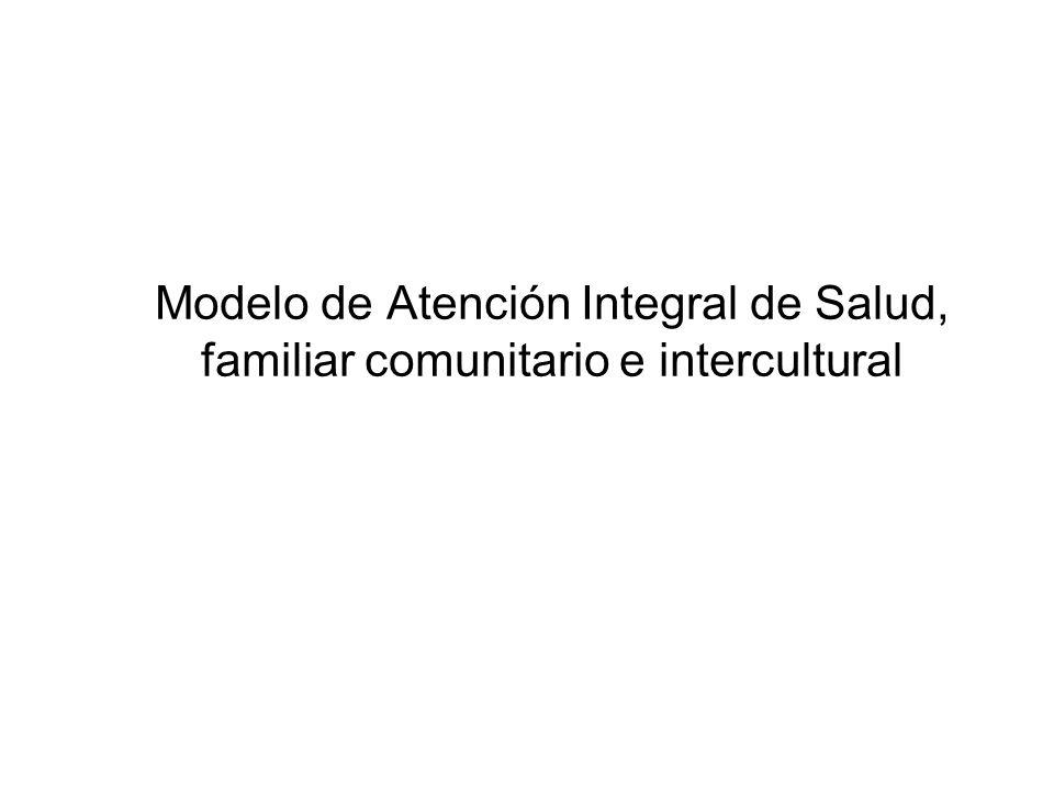 Modelo de Atención Integral de Salud, familiar comunitario e intercultural