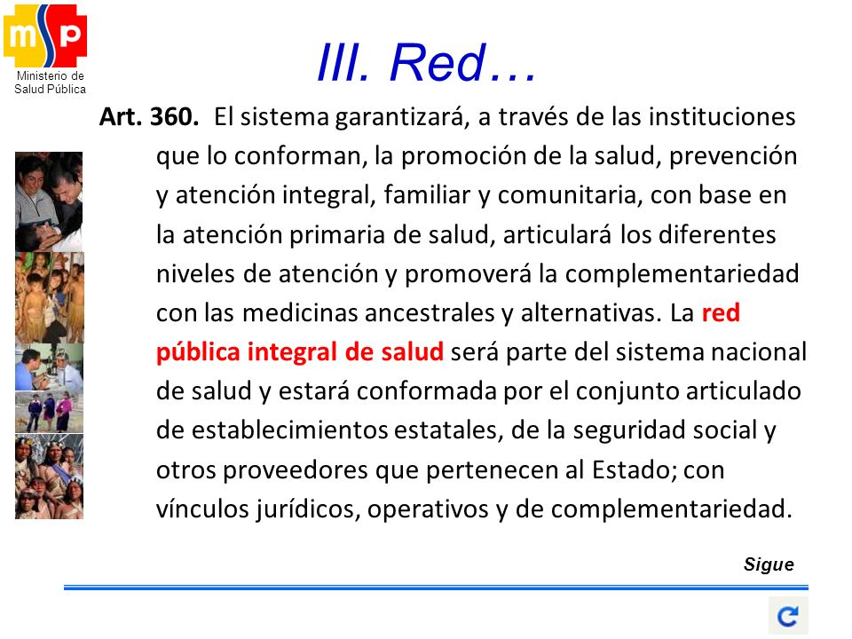 III. Red…