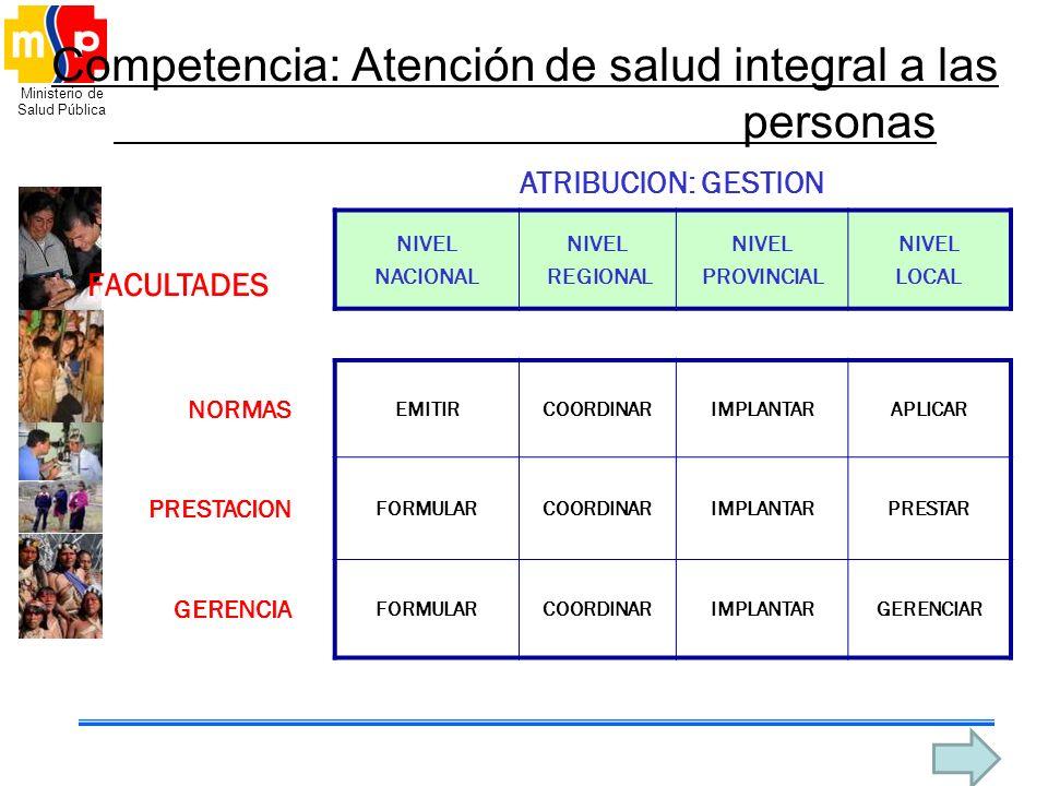 Competencia: Atención de salud integral a las personas