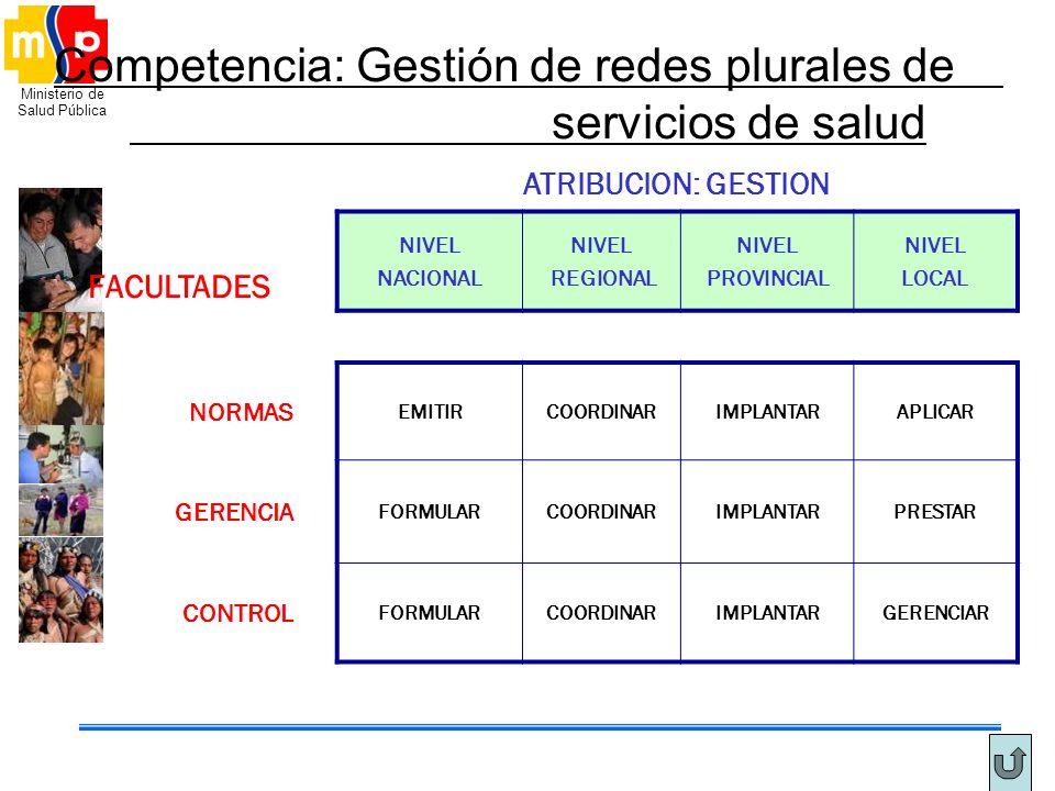 Competencia: Gestión de redes plurales de servicios de salud