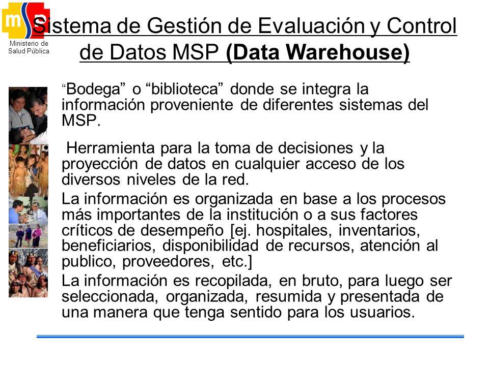 Sistema de Gestión de Evaluación y Control de Datos MSP (Data Warehouse)