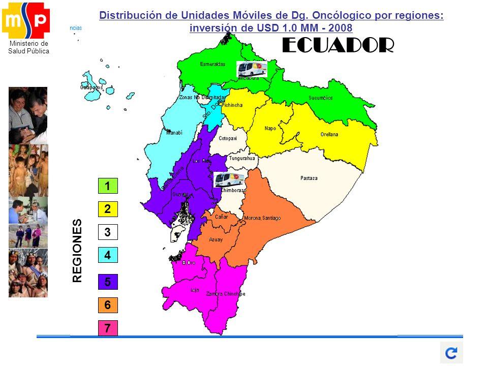 Distribución de Unidades Móviles de Dg