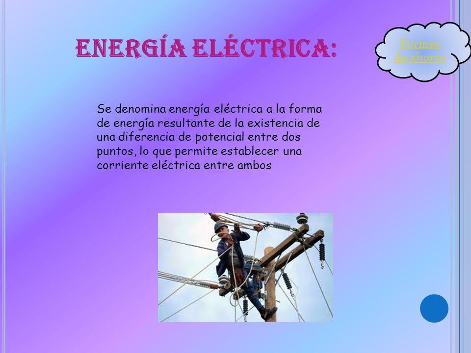 Energía eléctrica: Formas de ahorro