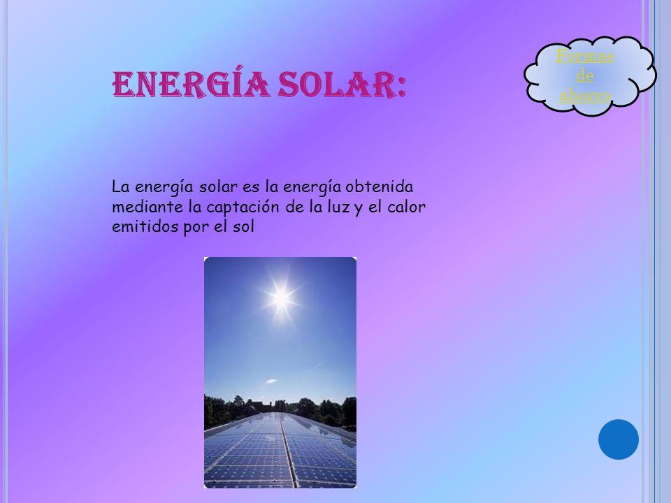 Energía solar: Formas de ahorro
