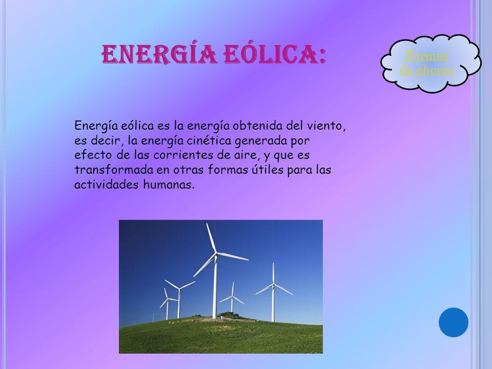 Energía eólica: Formas de ahorro