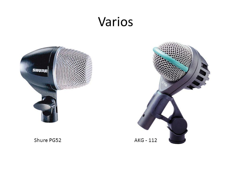 Varios Shure PG52 AKG - 112