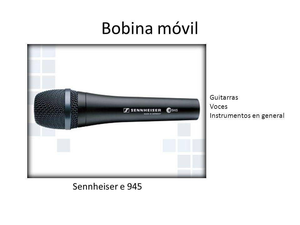 Bobina móvil Guitarras Voces Instrumentos en general Sennheiser e 945