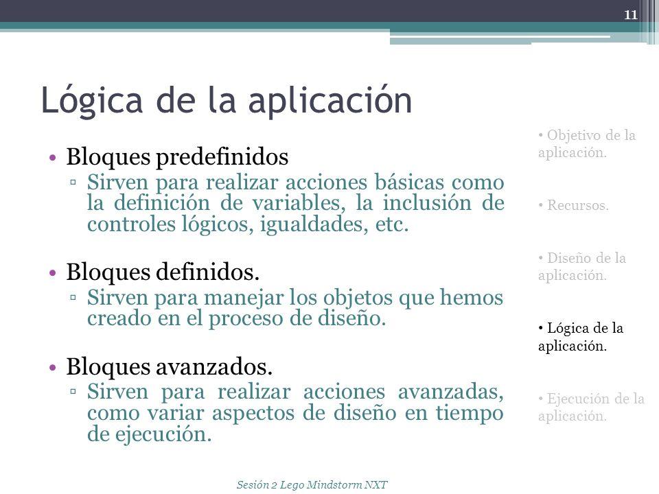 Lógica de la aplicación