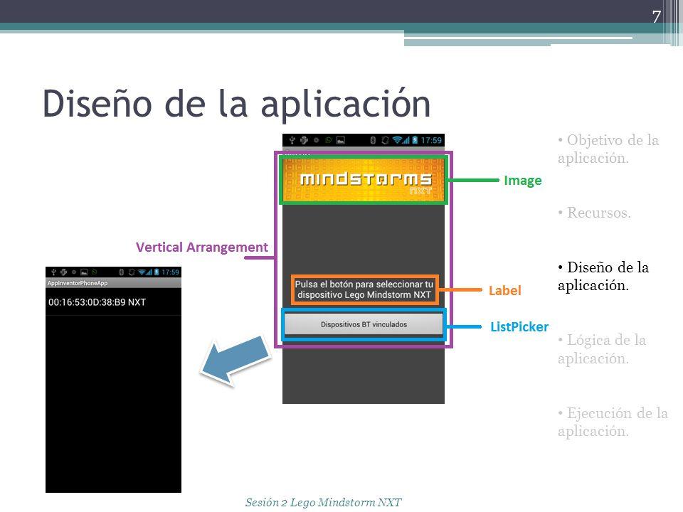 Diseño de la aplicación