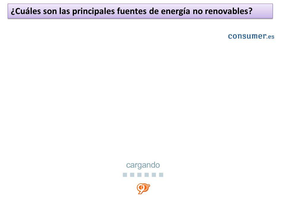 ¿Cuáles son las principales fuentes de energía no renovables