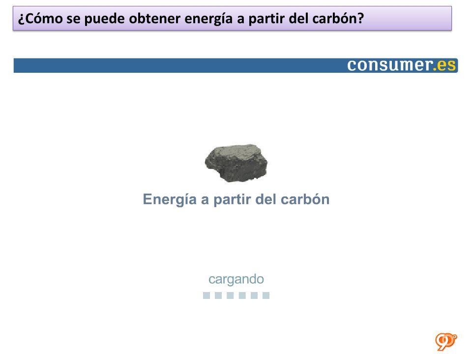¿Cómo se puede obtener energía a partir del carbón