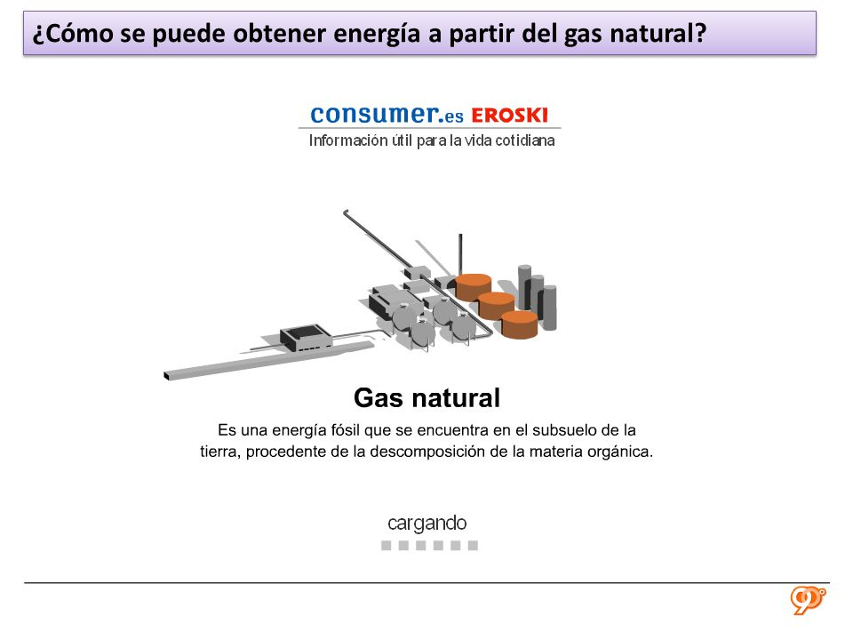 ¿Cómo se puede obtener energía a partir del gas natural