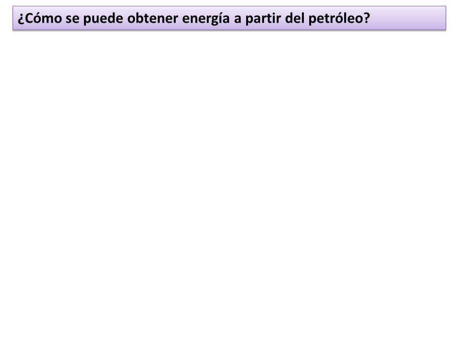 ¿Cómo se puede obtener energía a partir del petróleo