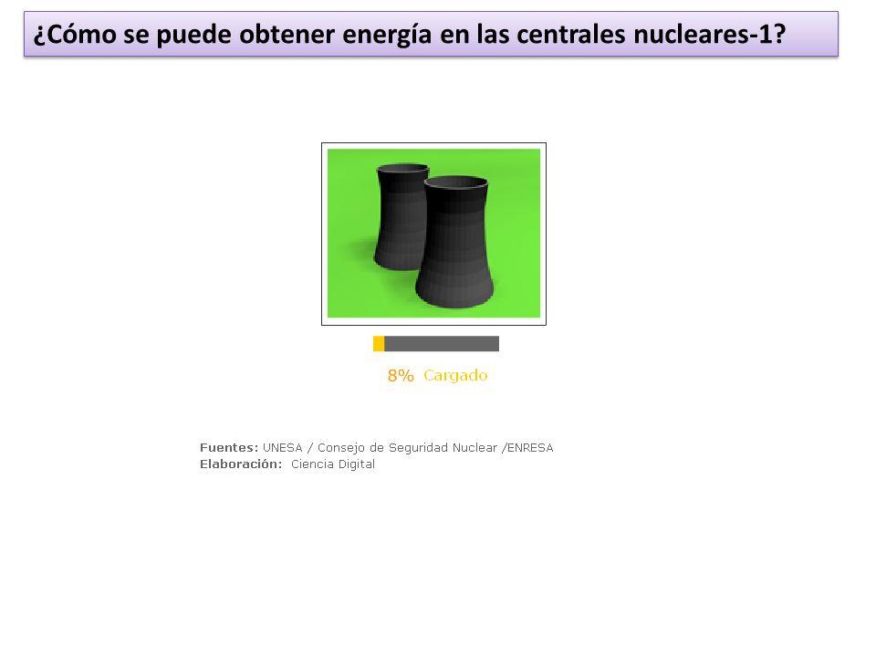 ¿Cómo se puede obtener energía en las centrales nucleares-1