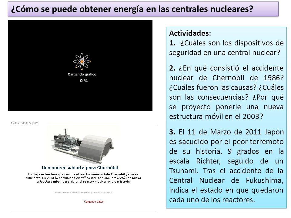 ¿Cómo se puede obtener energía en las centrales nucleares