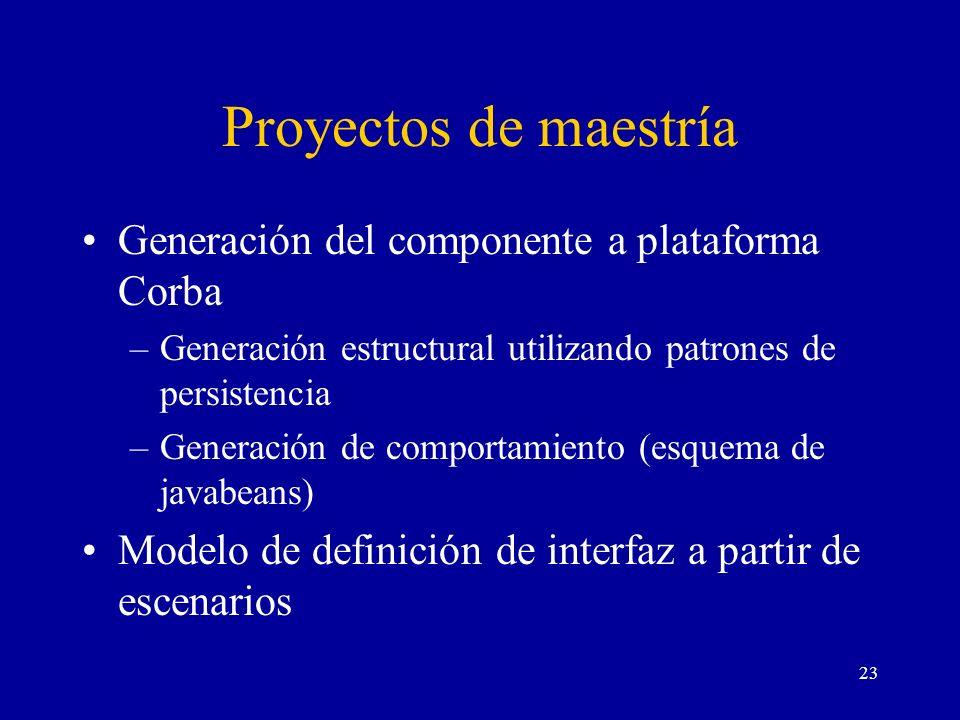 Proyectos de maestría Generación del componente a plataforma Corba