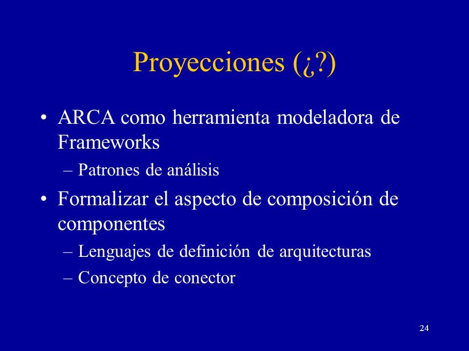 Proyecciones (¿ ) ARCA como herramienta modeladora de Frameworks