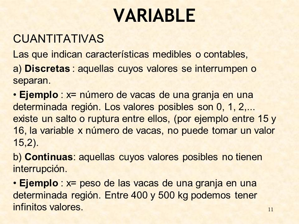 VARIABLE CUANTITATIVAS