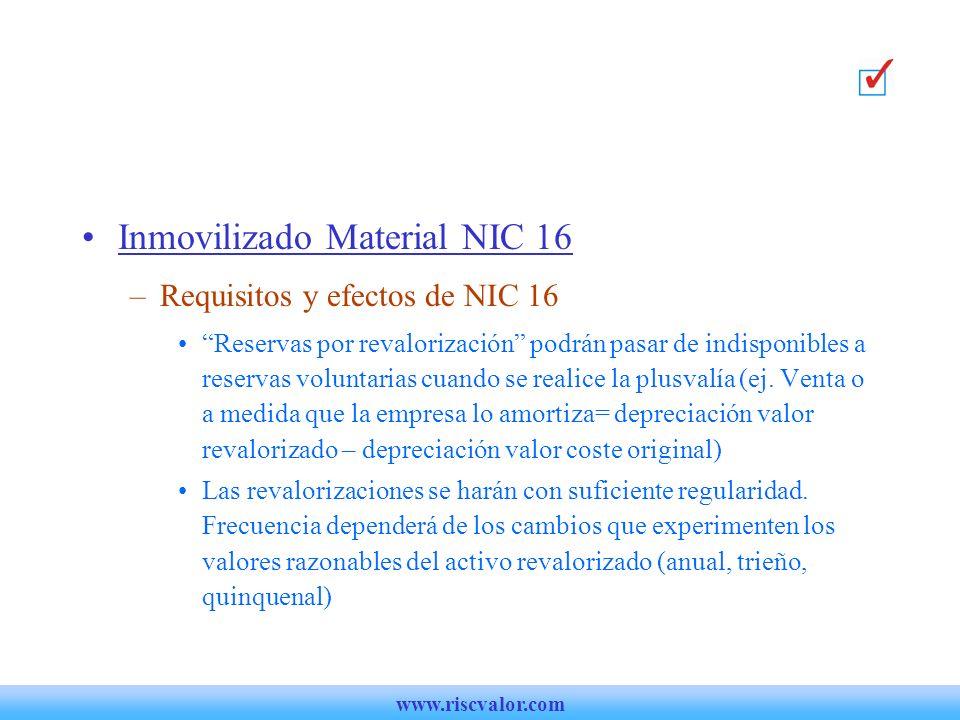 Inmovilizado Material NIC 16