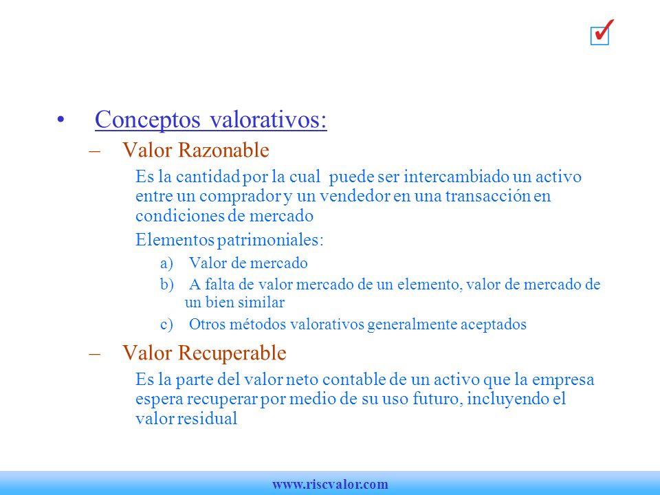 Conceptos valorativos: