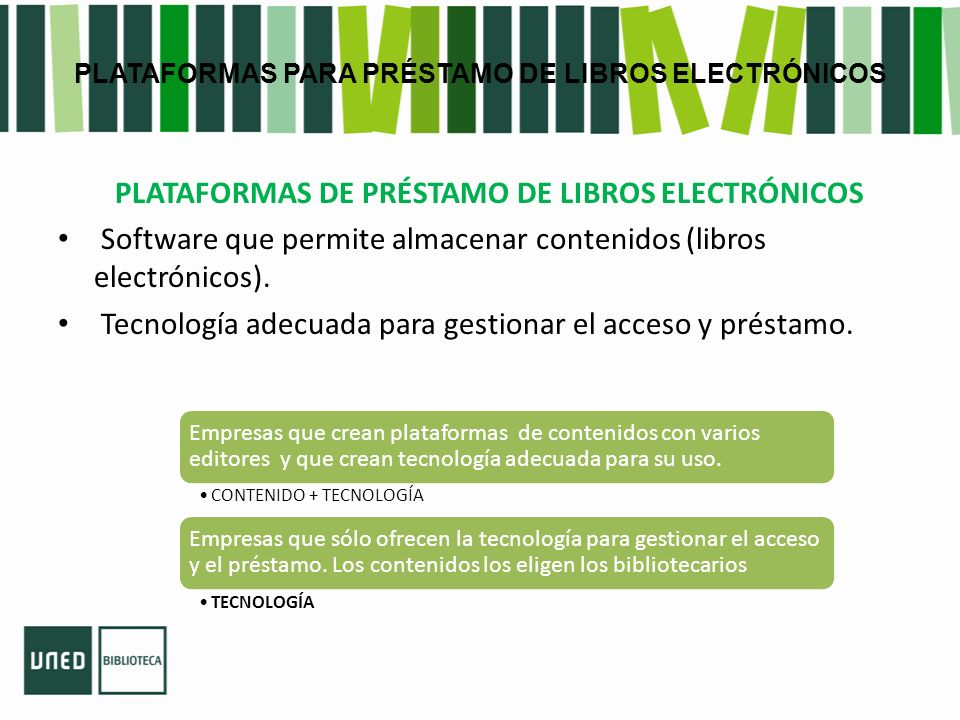 PLATAFORMAS PARA PRÉSTAMO DE LIBROS ELECTRÓNICOS