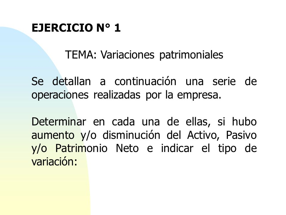 TEMA: Variaciones patrimoniales