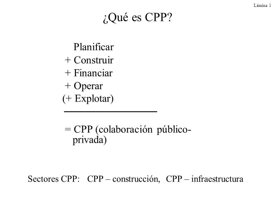 ¿Qué es CPP Planificar + Construir + Financiar + Operar (+ Explotar)