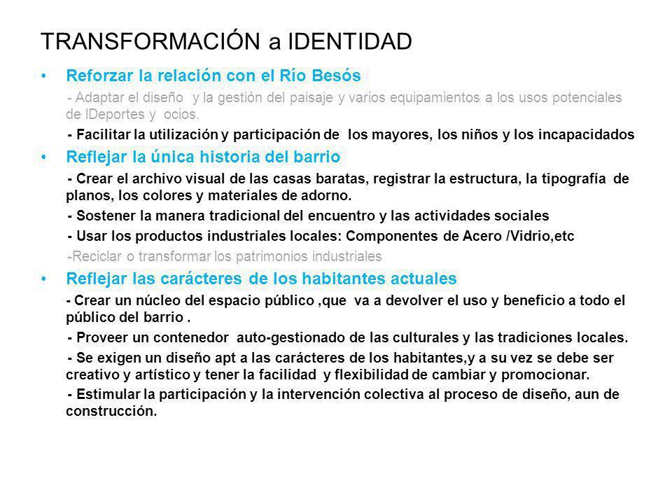 TRANSFORMACIÓN a IDENTIDAD