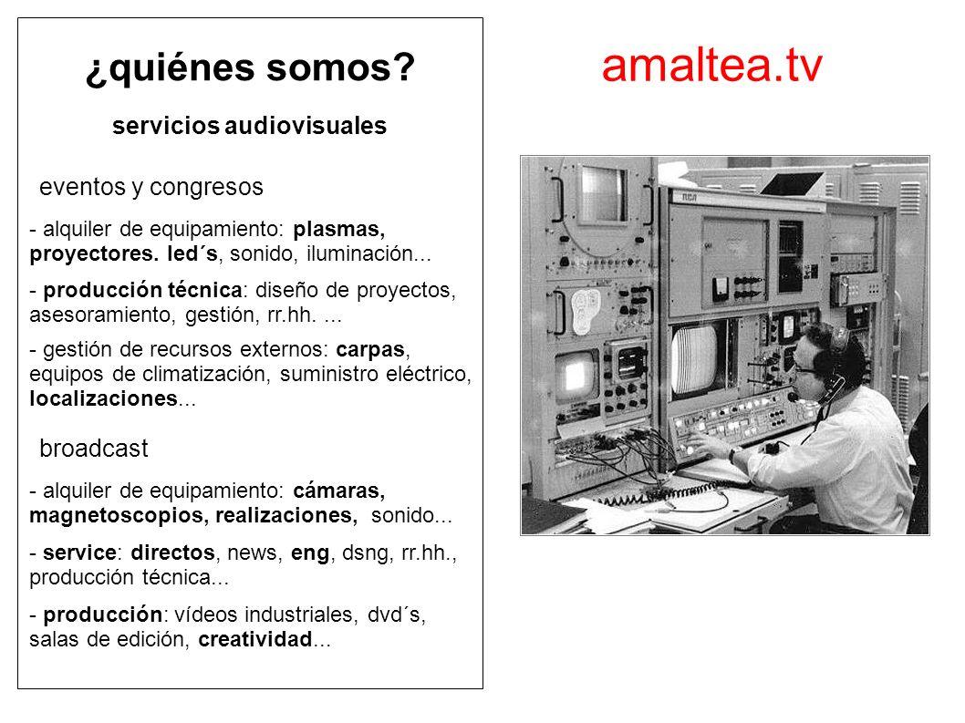amaltea.tv ¿quiénes somos servicios audiovisuales eventos y congresos