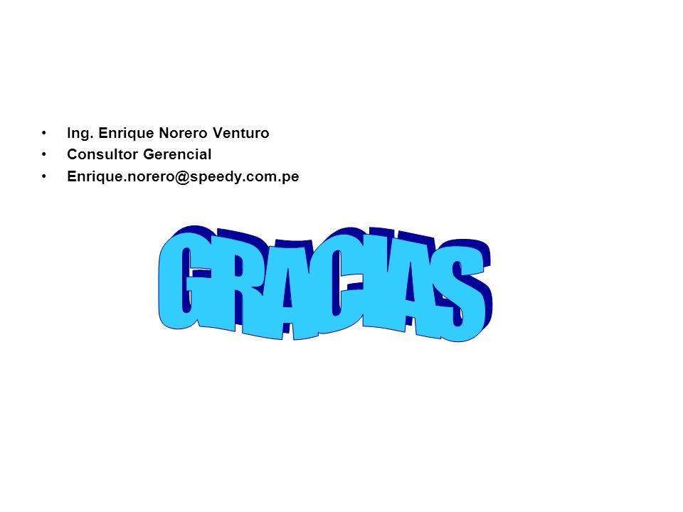 GRACIAS Ing. Enrique Norero Venturo Consultor Gerencial