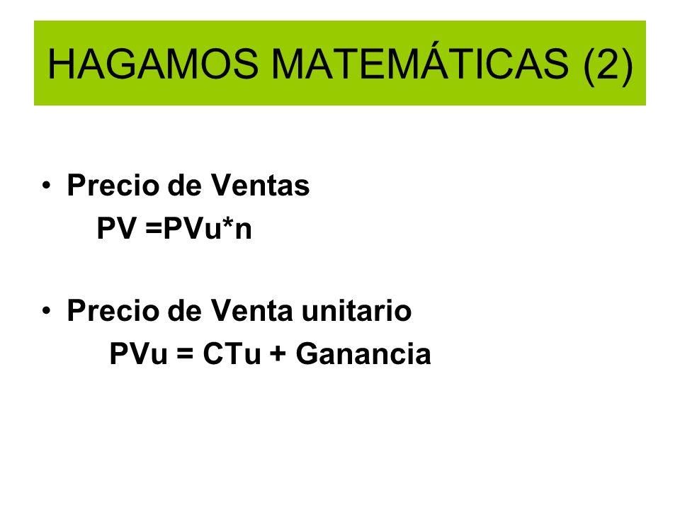 HAGAMOS MATEMÁTICAS (2)