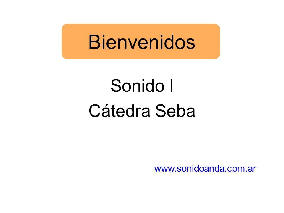 Bienvenidos Sonido I Cátedra Seba www.sonidoanda.com.ar