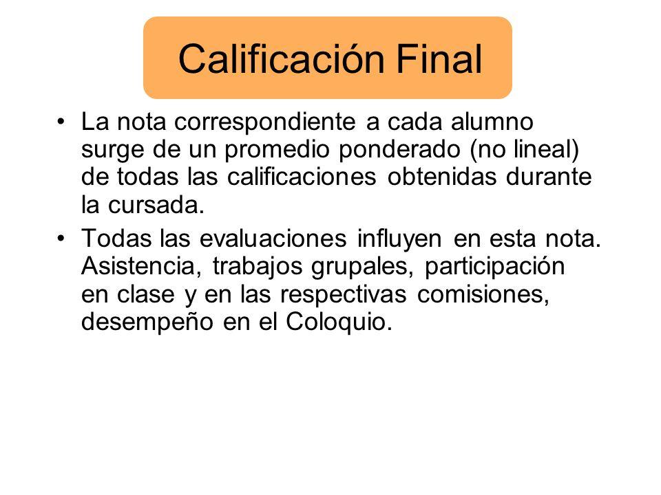 Calificación Final