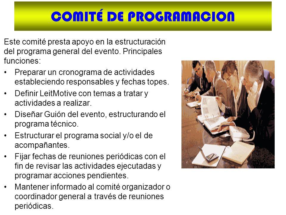 COMITÉ DE PROGRAMACION